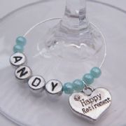 Happy Retirement Personalised Wine Glass Charm